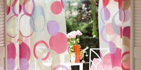 Pink, Interior design, Purple, Pattern, Peach, Magenta, Lavender, Creative arts, Interior design, Paint,