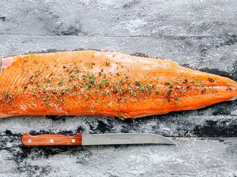 Orange, Amber, Ingredient, Fish, Seafood, Fish products,