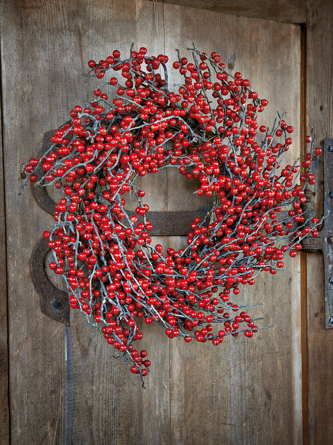 Red, Wreath, Coquelicot,