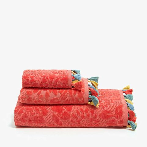 Pink, Turquoise, Product, Orange, Textile, Furniture, Linens, Bed sheet, Bedding, Rectangle,