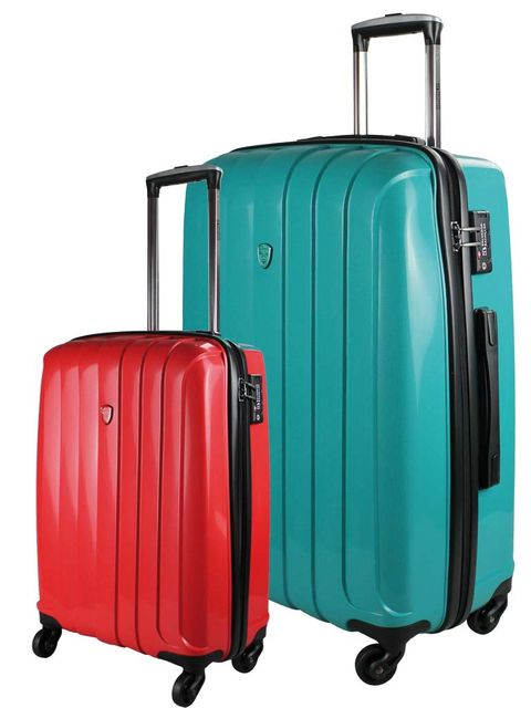 Blue, Product, Teal, Turquoise, Aqua, Azure, Electric blue, Baggage, Rolling, Maroon,