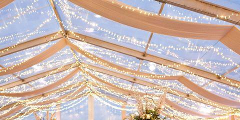 Decoration, Wedding banquet, Function hall, Chiavari chair, Restaurant, Rehearsal dinner, Ceiling, Yellow, Wedding reception, Lighting,