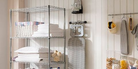 Laundry room, Washing machine, Laundry, Clothes dryer, Major appliance, Shelf, Room, Furniture, Home appliance, Cupboard,