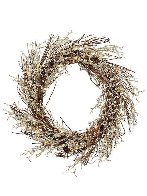 Twig, Branch, Wreath, Christmas decoration, Plant, Grass, Tree, Bird nest, Circle, Pine family,