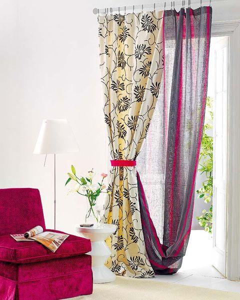 Interior design, Textile, Interior design, Purple, Throw pillow, Window treatment, Lamp, Magenta, Pillow, Home accessories,