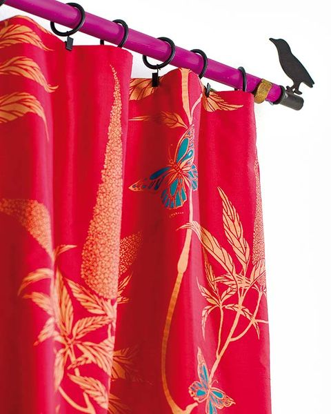 Textile, Red, Magenta, Bird, Maroon, Feather, Silk, Visual arts, Wing, Beak,