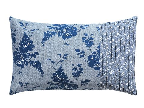 Blue, Product, Cushion, Textile, Pillow, Pattern, Linens, Throw pillow, Electric blue, Home accessories,