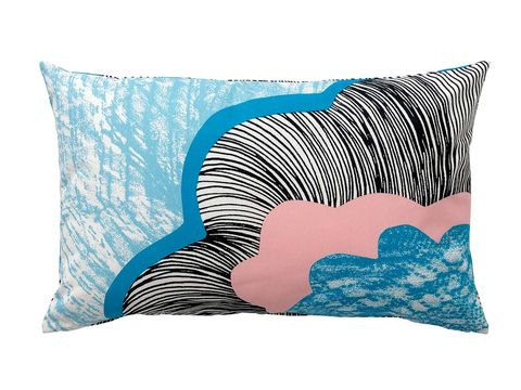 Blue, Cushion, Pillow, Throw pillow, Aqua, Turquoise, Linens, Teal, Home accessories, Bedding,