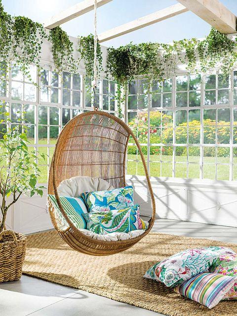Home accessories, Wicker, Garden, Shrub, Backyard, Home fencing, Basket, Shade, Yard, Outdoor furniture,