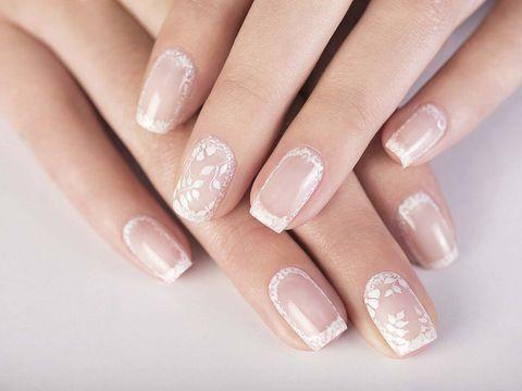 Nail, Manicure, Nail polish, Nail care, Finger, Cosmetics, Hand, Beauty, Skin, Peach,