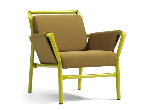 Brown, Yellow, Chair, Furniture, Tan, Beige, Armrest, Club chair,
