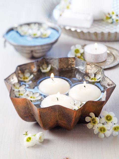Serveware, Dishware, Petal, Porcelain, Home accessories, Ingredient, Candle, Mixing bowl, Sweetness, Dessert,