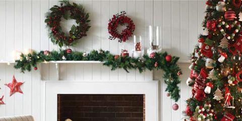 Green, Christmas decoration, Interior design, Event, Red, Room, Interior design, Holiday, Christmas ornament, Christmas,