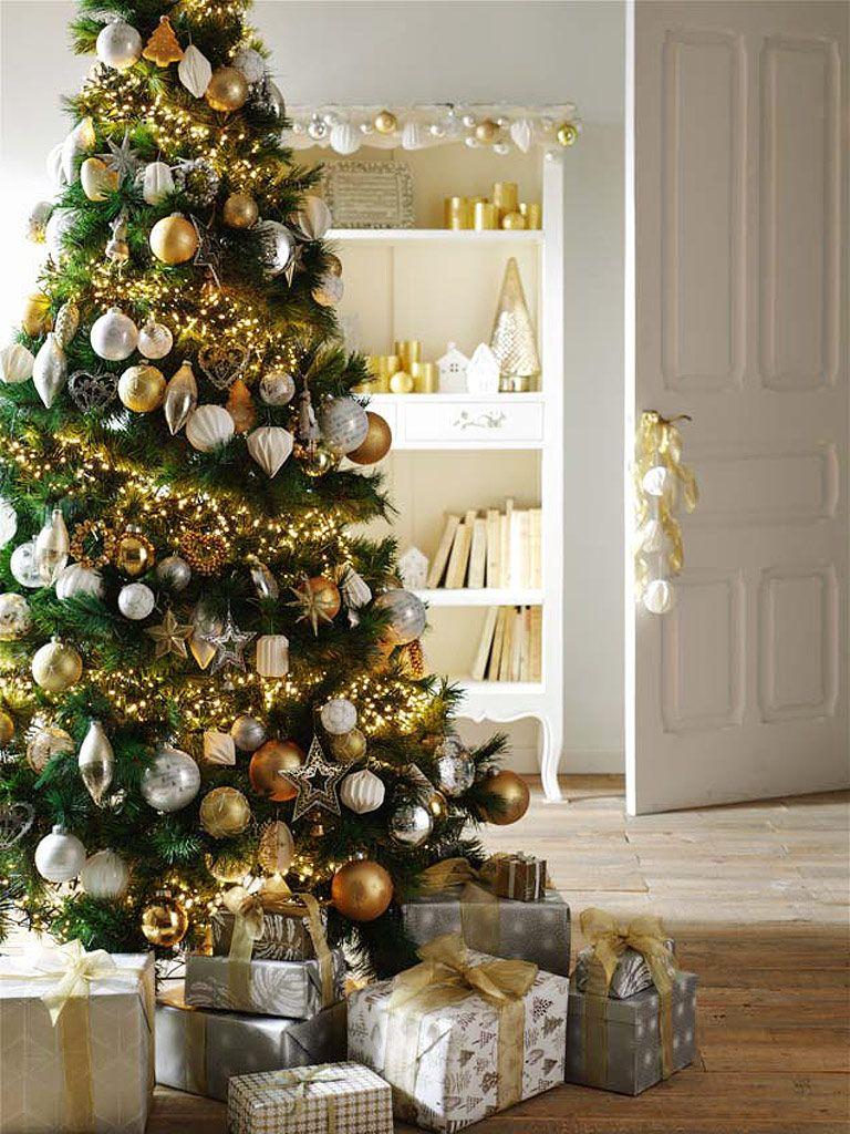 Como Adornar Tu Arbol De Navidad - Arboles-de-navidad-dorados