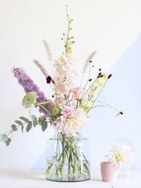 Flower, Cut flowers, Bouquet, Flower Arranging, Lavender, Plant, Floristry, Lilac, Floral design, Pink,