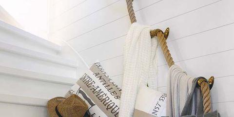 Bag, Shelf, Shelving, Shoulder bag, Household supply, Paper, Strap, Paper product,
