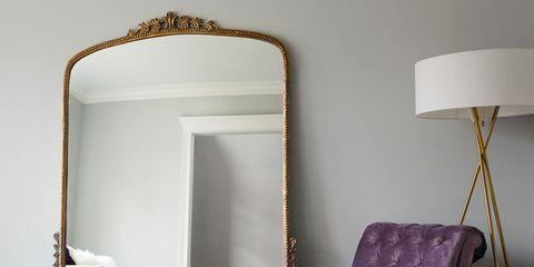 Furniture, Room, Purple, Interior design, Violet, Property, Table, Floor, Chair, Lighting,