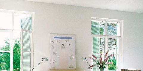 Green, Room, Interior design, Wall, Floor, Purple, Living room, Furniture, Home, Flooring,