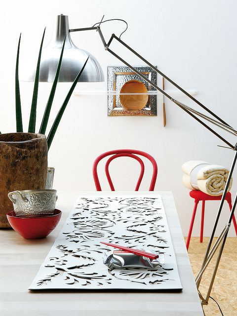 Red, Table, Interior design, Room, Furniture, Design, Coffee table, Branch, Twig, Still life photography,