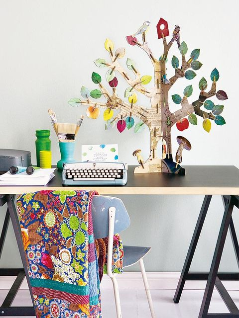 Branch, Table, Twig, Art, Office equipment, Wall sticker, Office supplies, Creative arts, Desk, Rectangle,