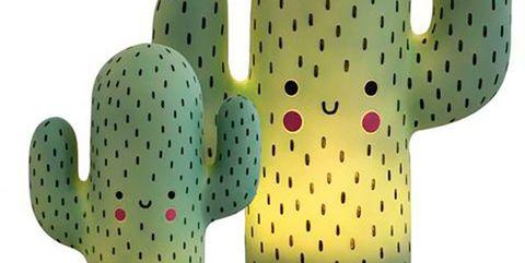 lámparas con forma de cactus