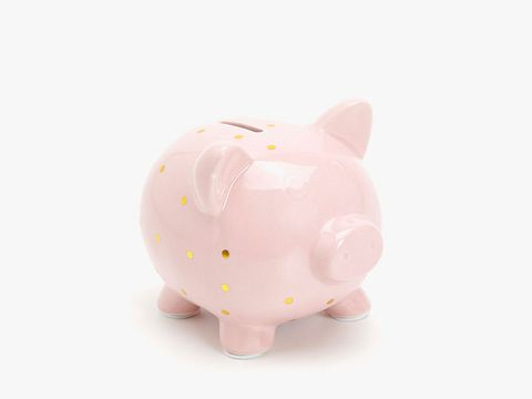 Piggy bank, Pink, Saving, Money handling, Animal figure,