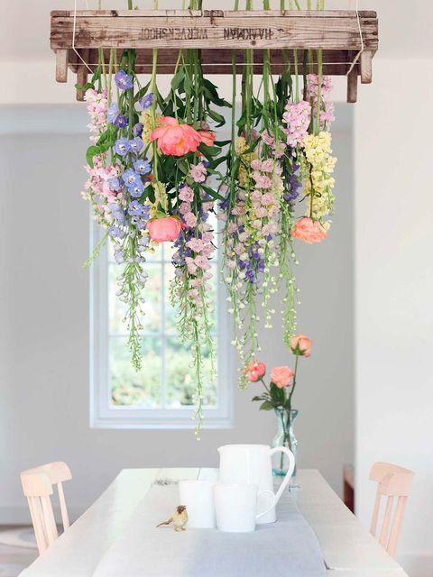 Pink, Flower, Room, Plant, Interior design, Textile, Floral design, Cut flowers, Artificial flower, Flower Arranging,