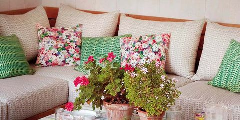 Room, Tablecloth, Textile, Interior design, Furniture, Linens, Pink, Living room, Table, Interior design,