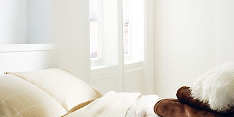 Room, Property, Interior design, Textile, Linens, Wall, Bedroom, Bedding, Bed sheet, Bed,