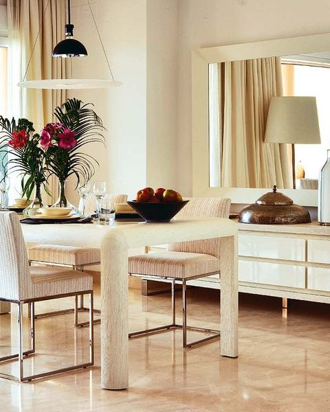 Room, Interior design, Floor, Lampshade, Table, Lamp, Furniture, Flooring, Interior design, Lighting accessory,