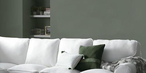 Furniture, White, Couch, Living room, Room, Table, Coffee table, Sofa bed, Interior design, Floor,