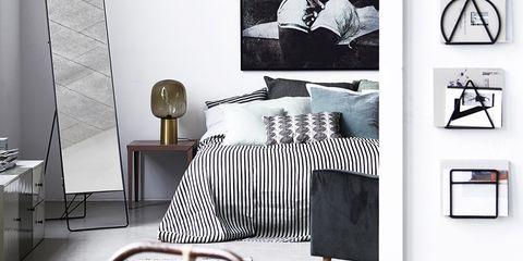 Interior design, Room, Textile, Floor, Furniture, Style, Linens, Grey, Home accessories, Interior design,
