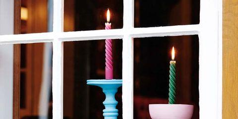 Candle, Lighting, Window, Room, Flower, Plant, Floral design, Interior design, Candle holder, Interior design,