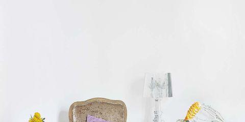 Furniture, Room, Table, Flowerpot, Lavender, Home accessories, Drinkware, Linens, Serveware, Barware,