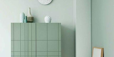 Product, Wall, Floor, Fixture, Wall clock, Teal, Metal, Rectangle, Clock, Circle,