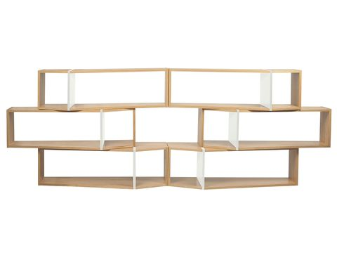 Shelving, Rectangle, Parallel, Beige, Tan, Plywood,