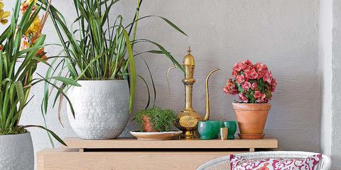 Flowerpot, Flower, Interior design, Houseplant, Teal, Vase, Wicker, Artifact, Flower Arranging, Peach,