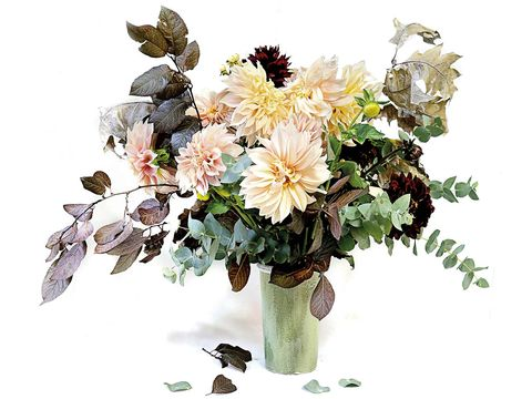 Petal, Bouquet, Flower, Cut flowers, Flowering plant, Art, Botany, Floristry, Flower Arranging, Paint,