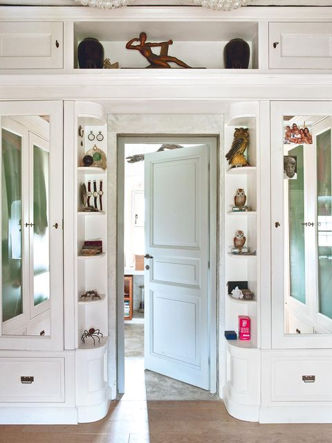 White, Room, Door, Furniture, Interior design, Cupboard, House, Cabinetry, Building, Floor,