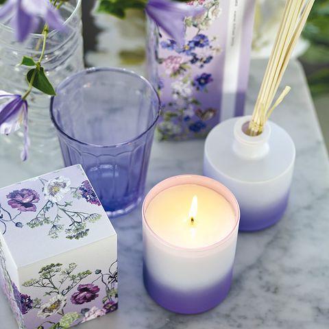 Blue, Purple, Glass, Lavender, Wax, Candle, Violet, Cobalt blue, Majorelle blue, Electric blue,