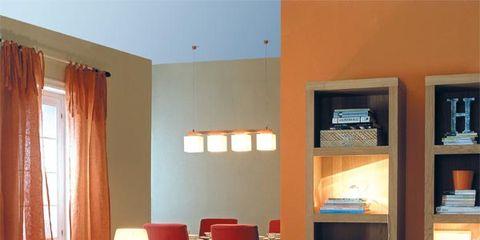 Interior design, Room, Floor, Table, Orange, Furniture, Flooring, Couch, Interior design, Living room,