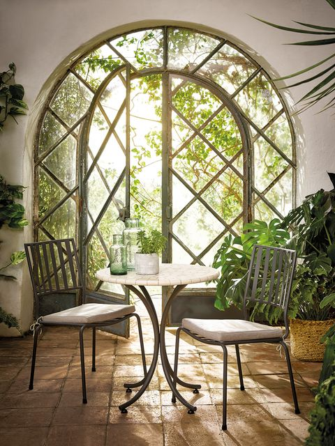 Arch, Room, Furniture, Architecture, Interior design, Building, Window, Table, House, Chair,