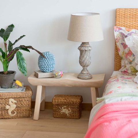 Room, Textile, Interior design, Lampshade, Flowerpot, Teal, Interior design, Linens, Lamp, Home accessories,