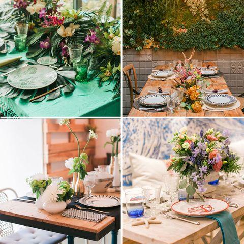 Furniture, Petal, Table, Flower, Centrepiece, Linens, Tablecloth, Interior design, Flower Arranging, Floristry,