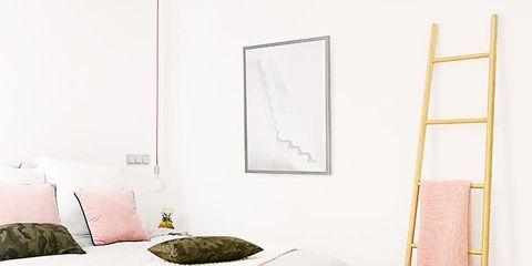 Room, Textile, Bed, Wall, Interior design, Bedding, Linens, Bedroom, Bed sheet, Grey,