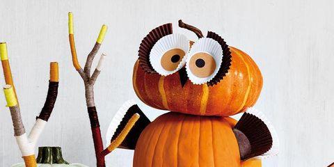 Pumpkin, Calabaza, Owl, Plant, Toy, Jack-o'-lantern,
