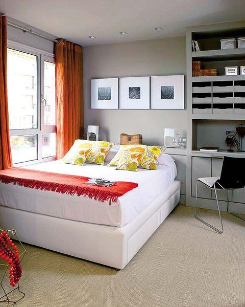 Interior design, Room, Floor, Textile, Wall, Furniture, Bed, Flooring, Home, Interior design,