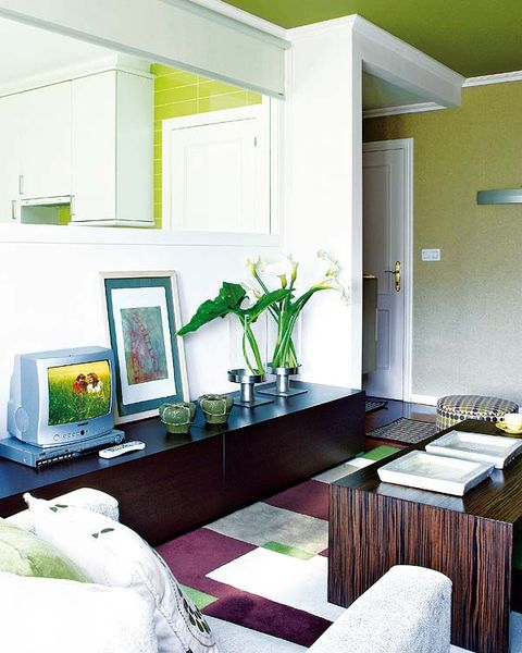 Room, Green, Interior design, Wall, Floor, Ceiling, Flooring, Interior design, House, Home,