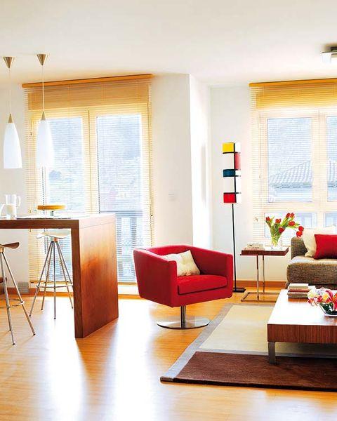 Room, Interior design, Wood, Floor, Flooring, Furniture, Living room, Table, Home, Wall,