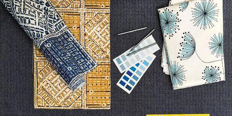 Yellow, Pattern, Design, Graphic design, Textile, Illustration, Visual arts, Rectangle, Art,